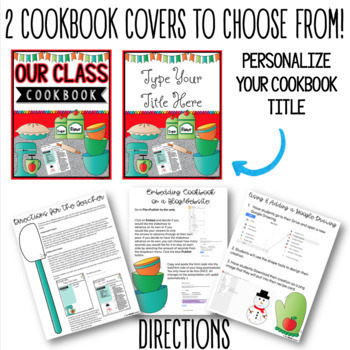 COOKBOOK TEMPLATE IN GOOGLE SLIDES™ by The Techie Teacher | TpT