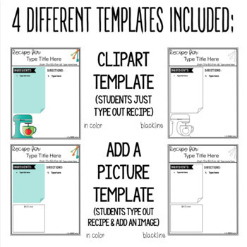 cookbook template in google slides by the techie teacher tpt