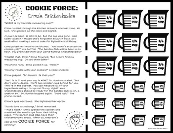 COOKIE FORCE: Erma's Snickerdoodles (adding fractions w/ unlike denominators)