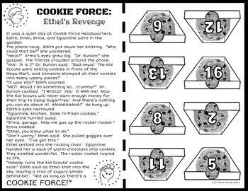 COOKIE FORCE: Ethel's Revenge (NO PREP math: dividing whole numbers by 10)