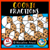 COOKIE FRACTIONS CLIPART (FOOD) MATH CLIP ART