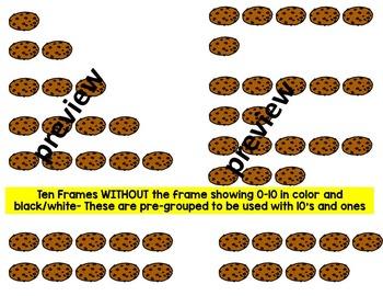 Place value clipart & ten frames- cookies clipart