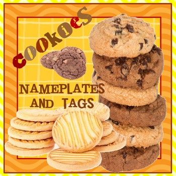 COOKIES! {editable} real photos...name plates, locker tags