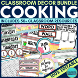 COOKING THEME Classroom Decor EDITABLE Baking Themes
