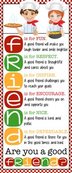 COOKING / CHEF theme - Classroom Decor: LARGE BANNER, FRIENDS