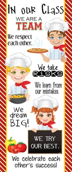 COOKING / CHEF theme - Classroom Decor: LARGE BANNER, In Our Class