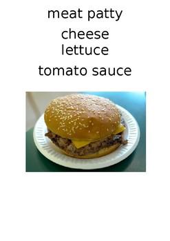 COOKING CLASS - Cheeseburger worksheet