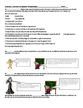 COOKING WITH CONDUCTION, CONVECTION AND RADIATION WORKSHEET W/ANSWER KEY