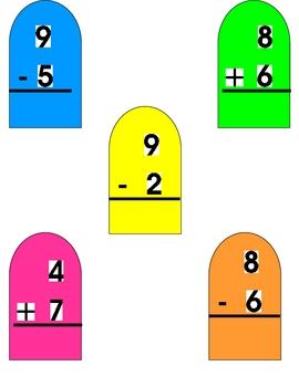 COOL ADDITION & SUBTRACTION File Folder Math Game 0-10