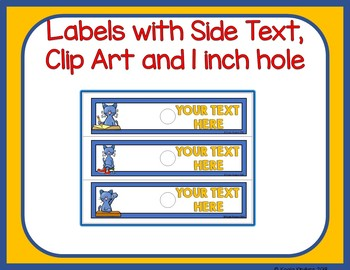 COOL CAT 10 Drawer EDITABLE Labels
