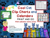 COOL CAT Behavior Clip Chart and Calendar PRINT AND GO 2018-2019