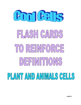COOL CELLS FLASH CARDS