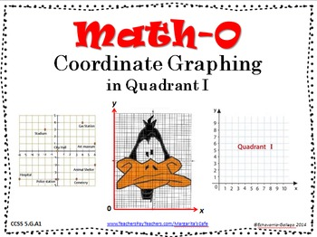 COORDINATE GRAPHING in Quadrant I - CCSS 5.G.A1