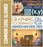 Coordinate Plane Graphing: Worksheets, Song, & Games ★ 4 Quadrant Version