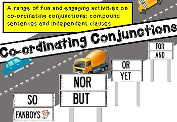 COORDINATING CONJUNCTION JUNCTIONS - Compound sentences and independent clauses