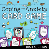 COPING w/ ANXIETY: Print + Digital SEL Game   Social Emotional Distance Learning