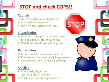 COPS Cards: A daily reminder for editing and proofreading