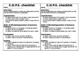 C.O.P.S. Editing Checklist