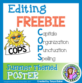 COPS Editing Poster {Summer Theme} FREEBIE