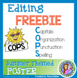 COPS Editing Poster {Summer Theme} FREEBIE