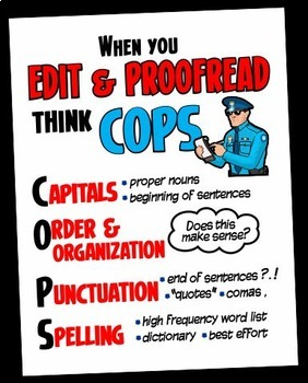 C.O.P.S. Editing & Proofreading Poster/Handout
