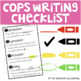 Writing Process COPS Interactive Editing Checklist