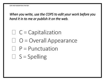 COPS Metacognitive Strategy