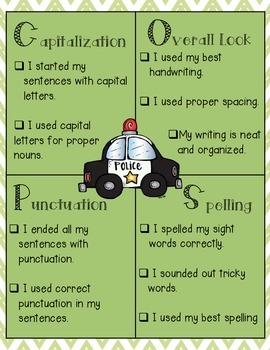 {C.O.P.S} Proofreading Writing Resource Poster and Activity Packet
