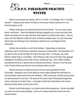 COPS Winter Editing Practice