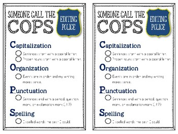COPS Writing Checklist