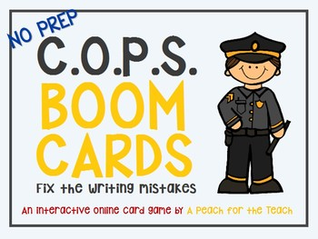 COPS Writing Strategy Boom Cards