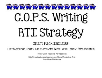 COPS Writing Strategy RTI Research Based Intervention Post