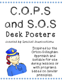 COPS and SOS Posters for Students' Desks Orton-Gillingham Inspired