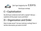 COPS editing and proofreading poster