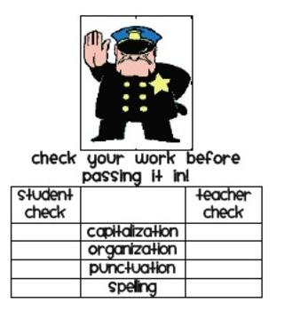 C.O.P.S. student + teacher checklist