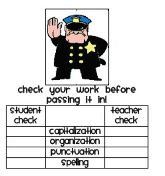 C.O.P.S. student + teacher checklist
