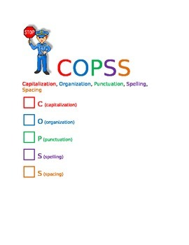 COPSS Capitalization Organization Punctuation Spelling Spacing writing editing