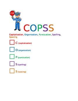 COPSS Capitalization Organization Punctuation Spelling Spa