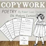 COPYWORK: Poetry by Robert Louis Stevenson - Qld Modern Cu