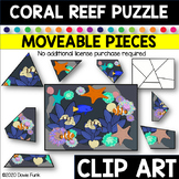 CORAL REEF PUZZLE Moveable Pieces Clip Art
