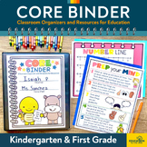 CORE Binder: Classroom Organizers and Resources for Education