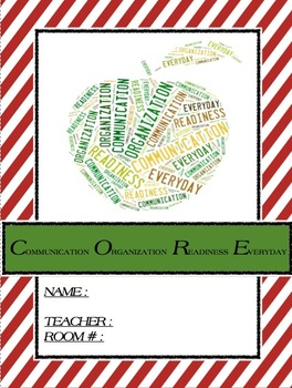 C.O.R.E. Binder Cover and To Do Page