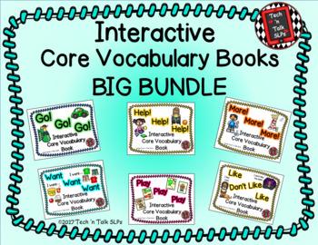 CORE! CORE! CORE! Core Vocabulary Interactive Books BIG BUNDLE