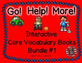 CORE! CORE! CORE! - Core Vocabulary Interactive Books - Bundle #1