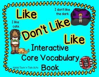 CORE! CORE! CORE! Core Vocabulary Interactive Books Bundle #2
