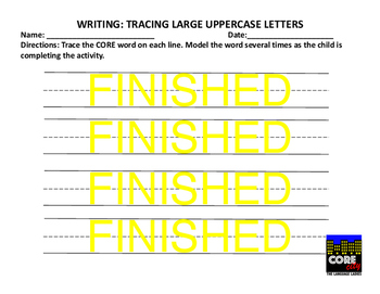"FREE:  CORE City-Sample Writing Activity- ""FINISHED"""