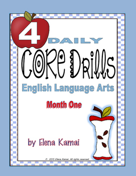 Daily COMMON CORE Drills for Grade 4 ~ Month ONE