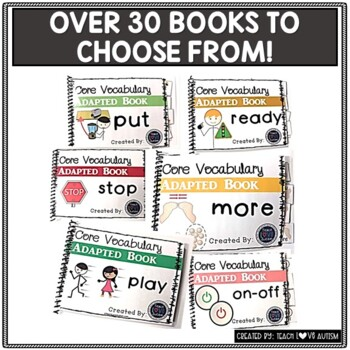 CORE Vocabulary Adapted Book Custom Order Bundle- You Pick 10 Books!