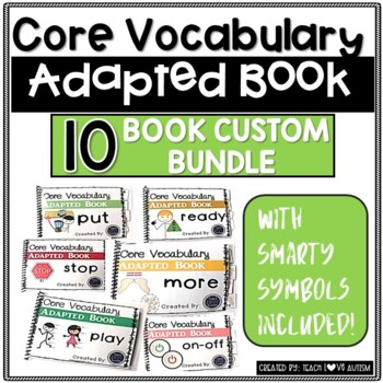 CORE Vocabulary Adapted Book Custom Order Bundle- You Pick