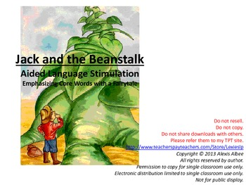 CORE WORDS Book - Jack and the Beanstalk